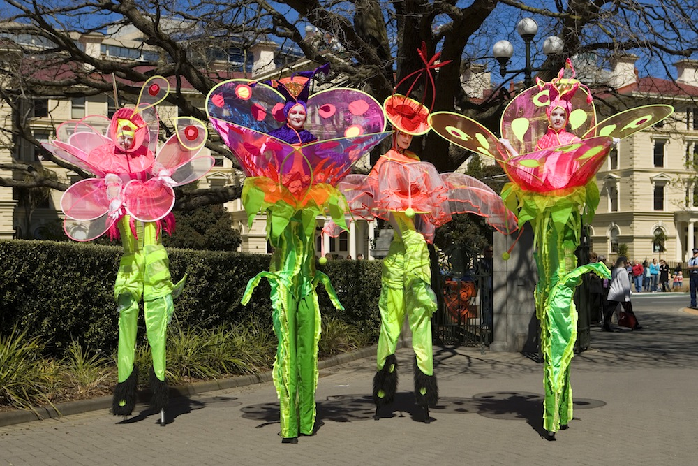 Flower Stiltwalkers